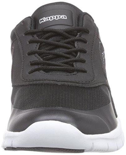 Kappa Milla M Footwear Men, Synthetic/Mesh - Zapatillas Unisex adulto Negro - Schwarz (1110 black/white)