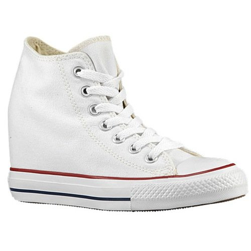 Converse Chuck Taylor Lux Wedge Mid Women's Shoes White/Red/Blue 547200f (10.5 B(M) US)