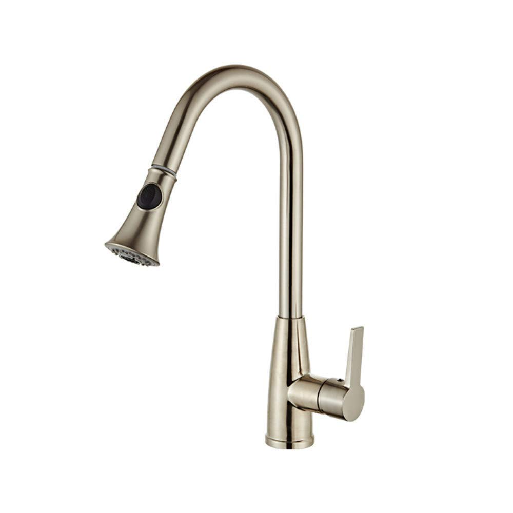 Water Tap Modern Kitchen Sink Mixer Faucet Single Handle Kitchen Faucet Mixer Chrome, Copper Kitchen Faucet redating Spout