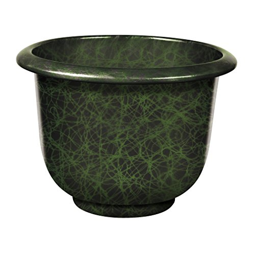 Round Moonstone Planter, Green, 12-Inch