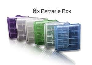 BD @ 6x almacenamiento de la batería Casos para 4x AA o 4x AAA baterías