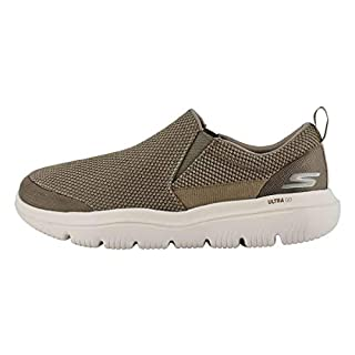 Skechers Men's GO Walk Evolution Ultra-Impeccable Sneaker, Khaki, 11 X-Wide
