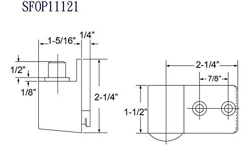 Intermediate Pivot in Aluminum Finish, Durable commercial & residential, door hardware, door handles, locks