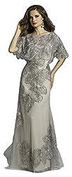 Beaded Applique Cape Dress