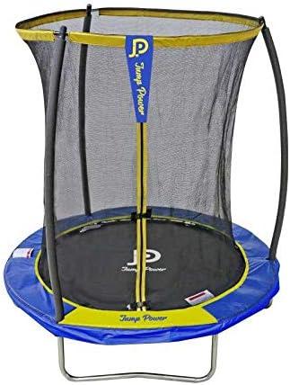 STARFLEX - Cama elástica Jump Power con Escalera y Cesta de Baloncesto