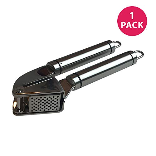 Think Crucial Durable Stainless Steel Garlic Press
