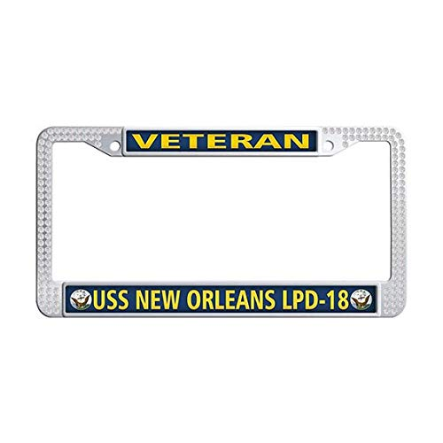USS New Orleans LPD-18 Veteran License Plate Frame