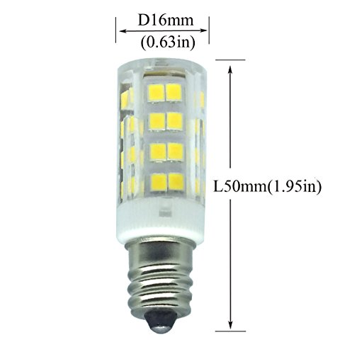 E12 LED Candelabra Bulb, 4W (40W Incandescent Bulb Equivalent), Dimmable Daylight White 6000K Ceiling Fan Bulb(5-Pack). (Daylight White) by WangHonKon (Image #1)