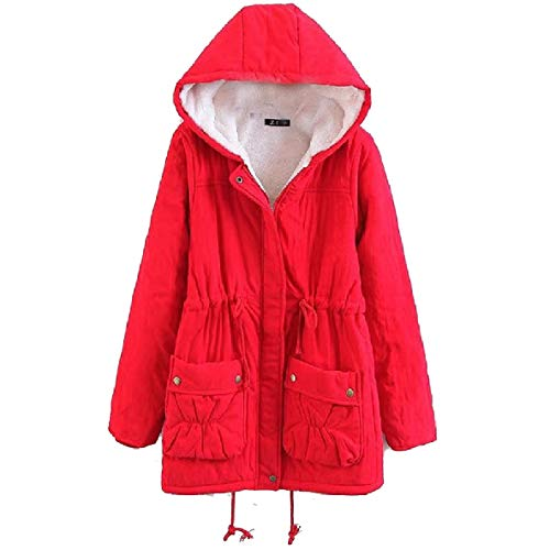 Plus Trench Women's Outerwear Plus Hood Coat Velvet Thick Size XINHEO 1 with YA7aqa8