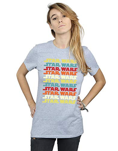 Del Star Fit Repeat Wars Logo Deporte Camiseta Gris Retro Novio Mujer nYa1PYqwZ