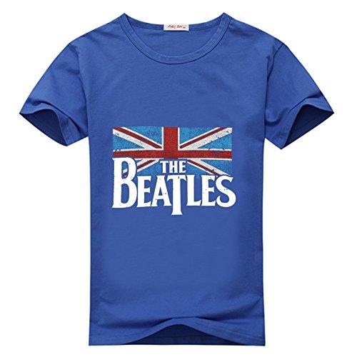 (Novelty Eworld Unisex Distressed British Flag T Shirt L Blue)