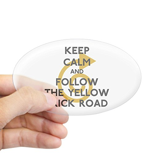 Euro Brick - CafePress - Keep Calm Yellow Brick Road - Oval Bumper Sticker, Euro Oval Car Decal