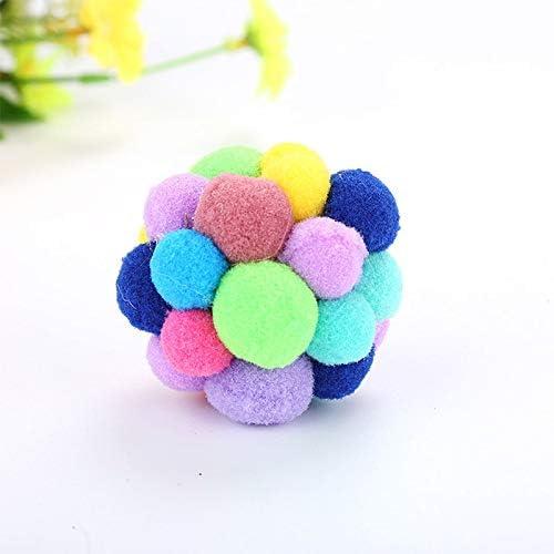 3pcs Mignon Pet Toy Jouets interactifs Boule Jouet pour Chat avec Clochette RainbowPets Chewing Jouer Comparaison
