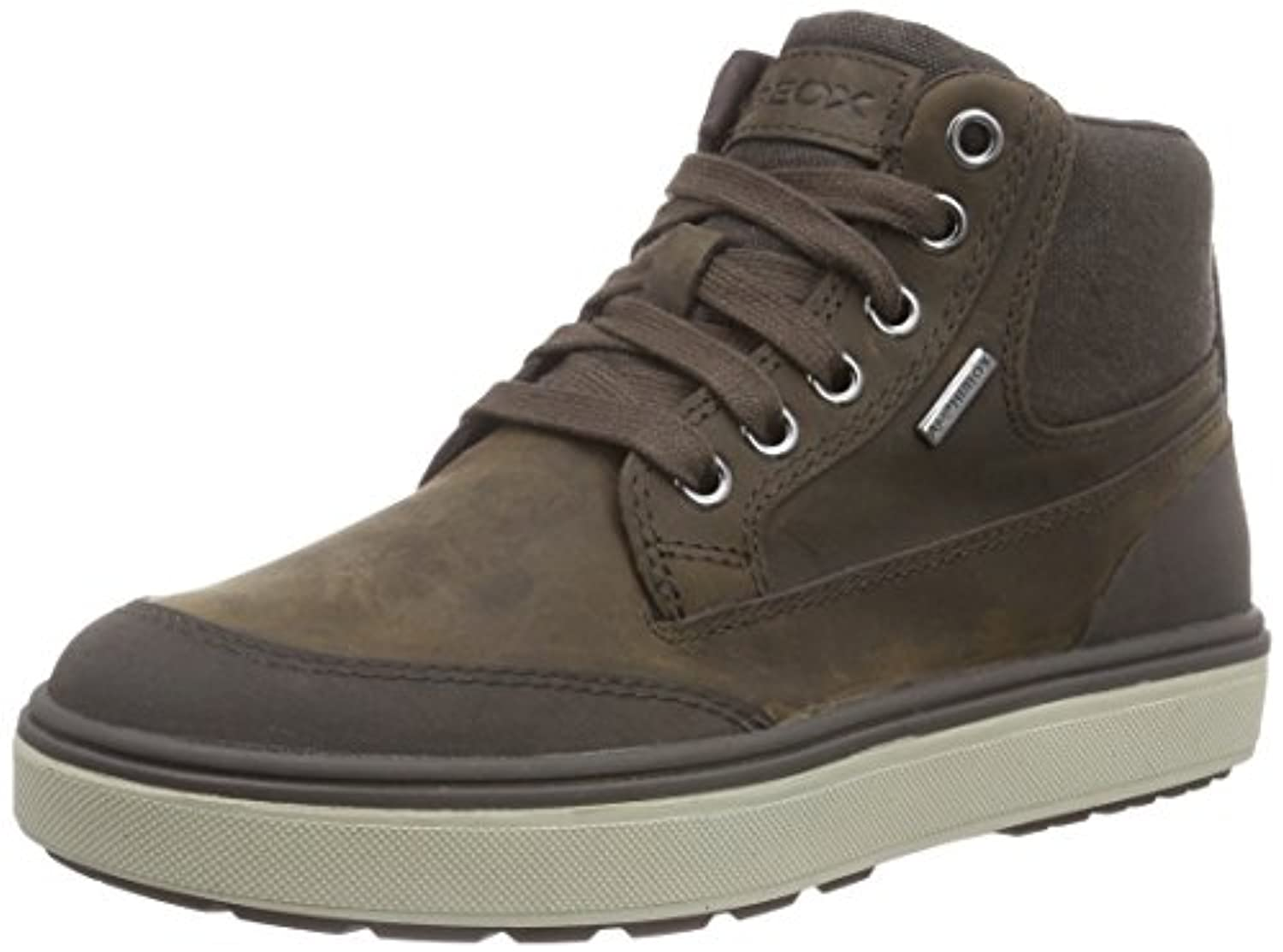 Geox J Mattias Amphibiox, Boys' Hi-Top Sneakers, Brown (Dark Brown), 1 UK (33 EU)