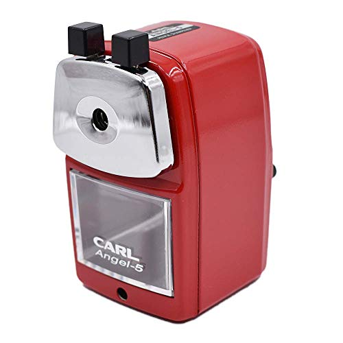 CARL Angel-5 Pencil Sharpener, Red ()