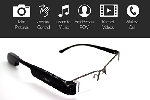 DigiOptix Smart Glasses for Android Smart Devices Bluetooth for headphones Audio Headsets, Best Action Camera, Take Calls, Sap Calls, Record Videos, Gesture Control DigiOptix, 16 GB by DigiOptix (Image #8)