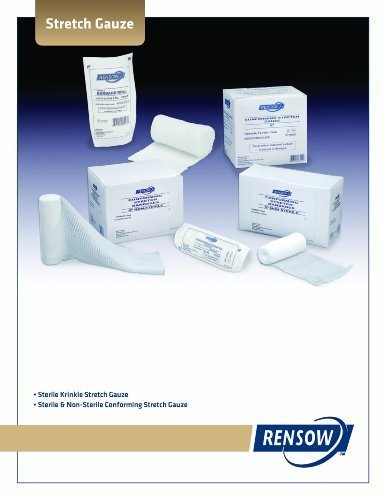 RENSOW 4 x 4 8- Ply Non-Sterile Gauze - Guaze Sponge 20 packs of 200/4000 case