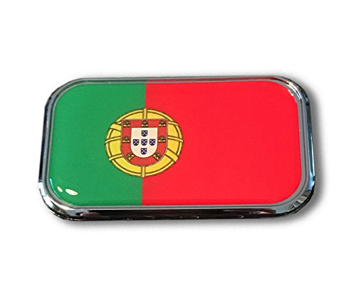 Portugal Domed CHROME Emblem Proud USA city Flag Car 3D 3