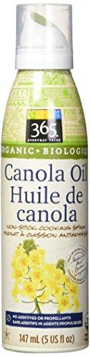 365 Everyday Value Organic Canola Oil Non-Stick Cooking Spray, 5 fl oz