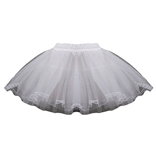 AliceHouse Girls 3Tier Flower Girl Crinoline Tutu Skirt wedding Petticoat Ball Underskirt white by AliceHouse