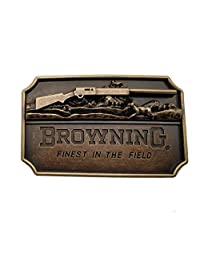 Browning 3d Finest in the Field Rifle Brass Color Belt Buckle