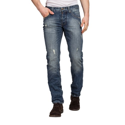 Uomo Blue authentik Straight Timezone Blu blau Jeans 3561 Light vxq04nH