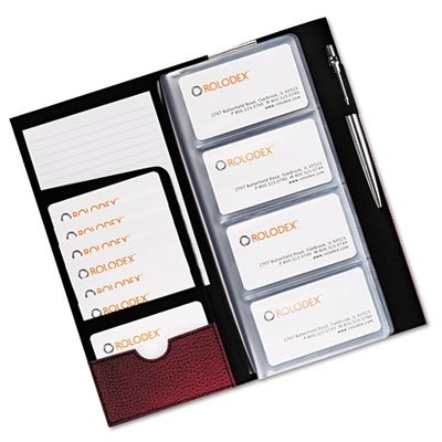 Rolodex Low Profile Hawthorn Rose Business Card Book, 96 Card Capacity (76651)