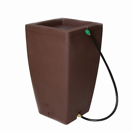 Algreen 84232  Products Madison Rain Barrel 49-Gallon, Sandstone
