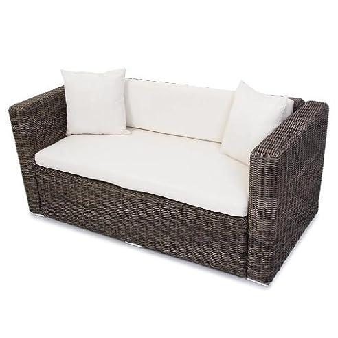 Lounge sofa garten grau  Polyrattan Grau Garten Gartensofa Poly - Rattan Sofa naturgrau ...