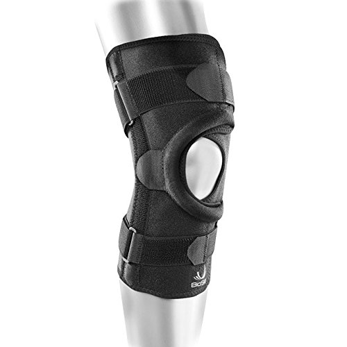 BioSkin Wrap Around Compression Supportive Knee Brace for Patellofemoral Pain and Patella Tracking Disorders – Q Brace (L)