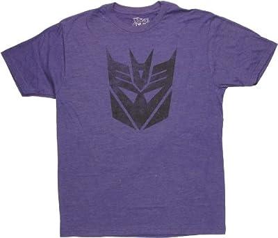Transformers Decepticon Logo Stencil T-Shirt Sheer