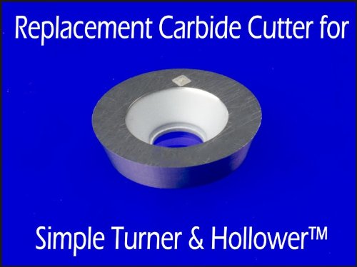 Simple Woodturning Tools Authentic Replacement Cutter for Simple Turner & Hollower (tool engraved with STH) 9/16'' Round Flat Top