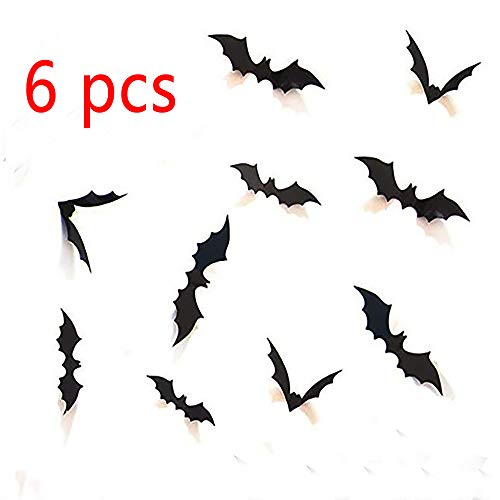 (Lovely days Halloween Party Supplies Decorations Window Decor Scary Bats 3D Wall Decals)