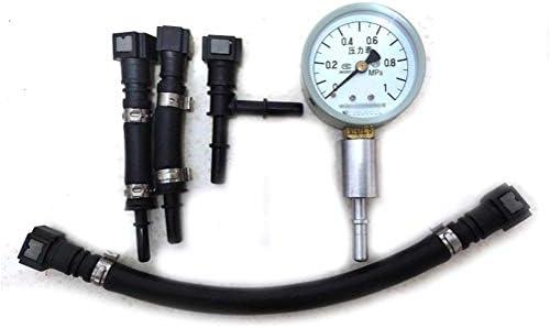 JPLLYY Fulleコネクタ付きガソリン電子制御燃料噴射オートバイの車の燃料圧力計メーターテスター