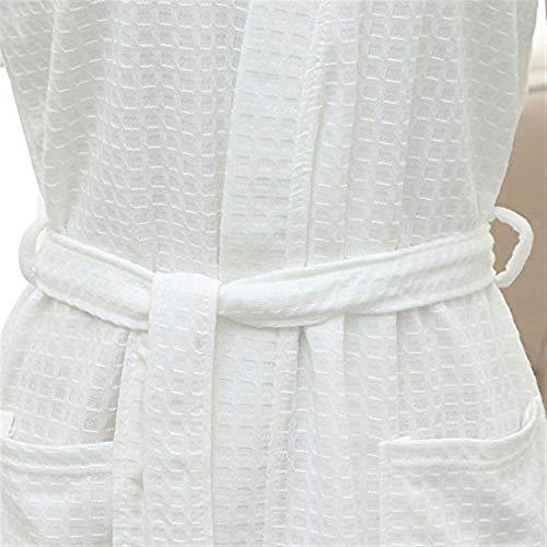 Accogliente Acconciatura Waffle Donne Stile Kimono Cotton Bianca Sauna Spa Per Semplice Accappatoio E Robe Uomini Camice wI8a6OxRqI