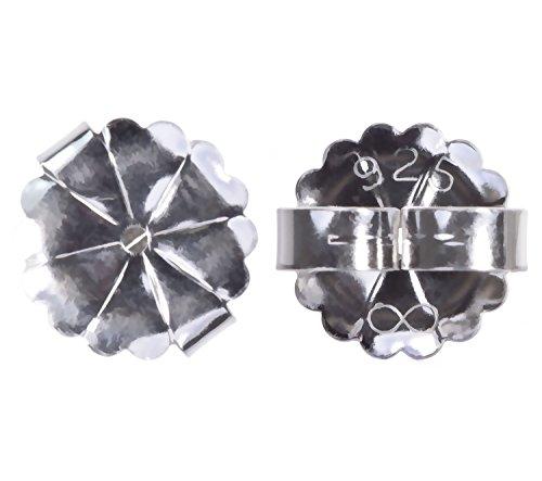 2 Pairs Sterling Silver Extra Jumbo Starburst Earring Backs 10mm
