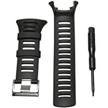 Watch Band Strap, Amytalk Soft Black Rubber Replacement Watch Band Strap For SUUNTO Ambit 3 PEAK/Ambit 2/1