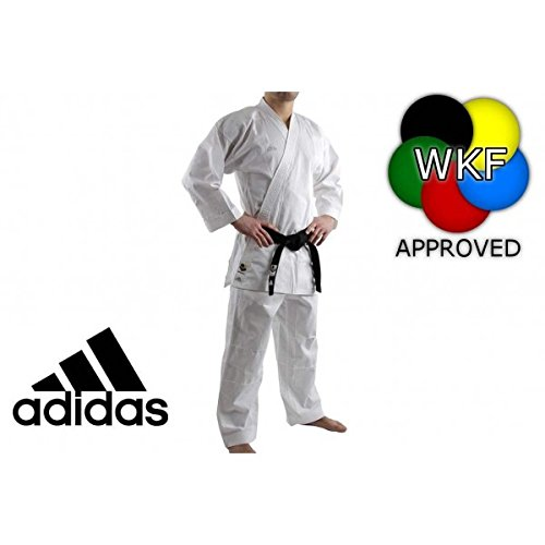 Amazon.com: adidas K220 Club uniforme de Karate – blanco (5 ...