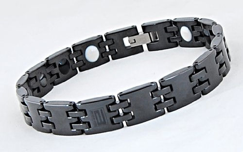 """Live Pain Free Pain Relief Alternative Pain Therapy in a Beautiful Stylish Being Black Ceramic Bracelet (Xl 8.5"""") Live Pain Free with This New Powerful Alternative Medicine Technology."""