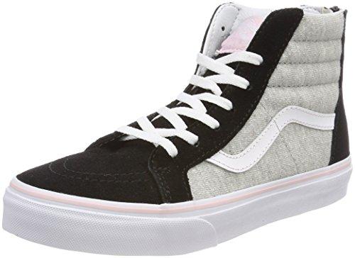 Vans Sk8-Hi Zip, Zapatillas Unisex Niños Negro (Shimmer Jersey)