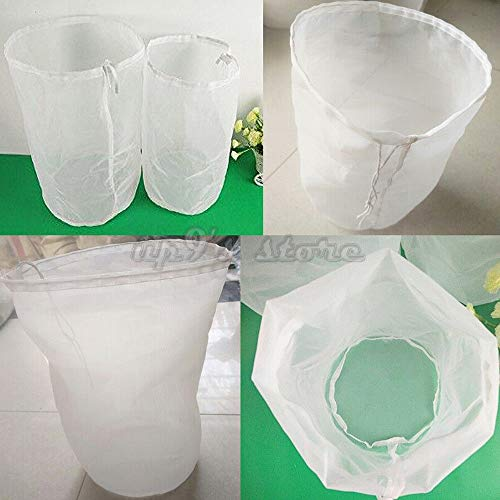 ng Bag 40cm x 45cm Fine Mesh Homebrew Filter Bags 2 Pack 100 Micron Nylon ()