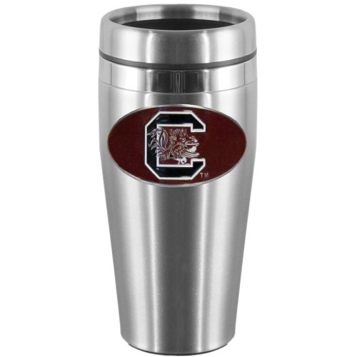 NCAA South Carolina Fighting Gamecocks Steel Travel Mug