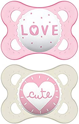 MAM Style Soothers 0 Designs may vary Available in Pink or Blue Months