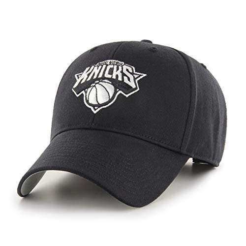 NBA New York Knicks NBA OTS All-Star Adjustable Hat, Black And White, One Size