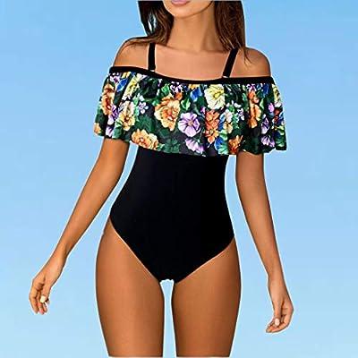Ghazzi Women Swimsuits Teen Girls Floral Printed One Piece Monokini Bathing Suits V Neck Ruffles Bikini Set Swimwear at  Women's Clothing store