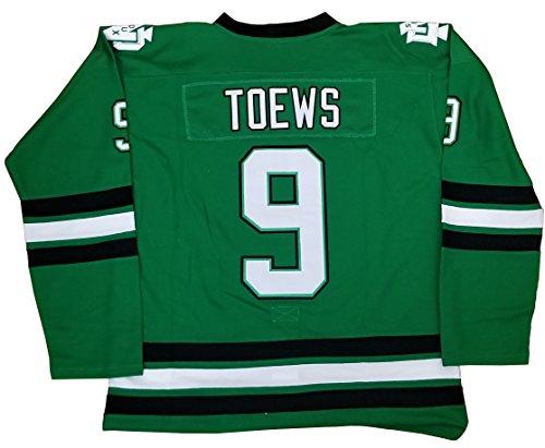 Kooy Jonathan Toews #9 North Dakota Sioux Green Hockey Jersey Men (L)]()