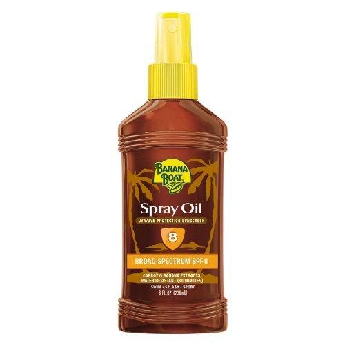 Banana Boat Spray Oil UVA/UVB Sunscreen Protection, SPF 8...