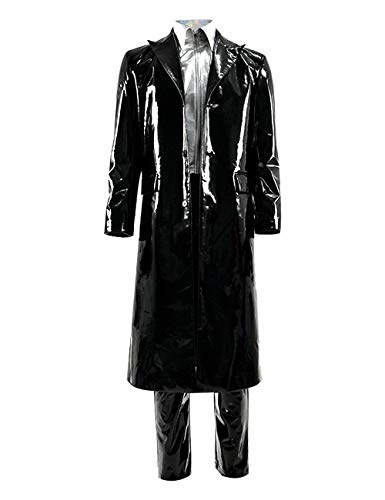 - Mens A.I. Robots Gigolo Joe Costume Patent Leather Jacket Outfits Cosplay for Adult (S, Black)