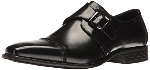 STACY ADAMS Men's Macmillian-Cap Toe Monk Strap Slip-On Loafer Black 8.5 M US