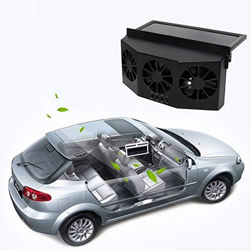 RoadRomo Parabrezza del Parabrezza Solare Ventola ad Aria Fredda Raffreddatore di Raffreddamento a Doppio Sistema di Raffreddamento